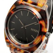 New!! Auth NIXON Time Teller Acetate Watch Tortoise Bracelet A327-646 A327646