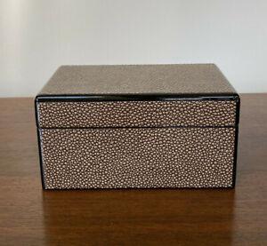 Dransfield & Ross Faux Shagreen Lidded Box