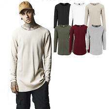 URBAN CLASSICS LONG SHAPED WAFFLE THERMO LONG SLEEVE Extended Long Extra Long
