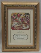 Tea Time Framed Print With Sentimental Verse for a Mother by Sandy Lynam Clough