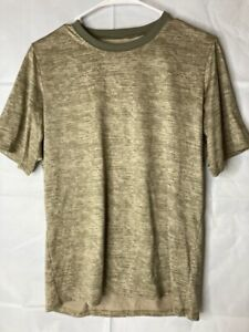 Patagonia Capilene Mens Cool Daily T-Shirt Beige Heathered Short Sleeve Crew S