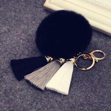 Women Furry Pompom Ball Tassel Keychain Keyring Charm Pendant Bag Decor Gift