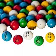 "EZ Read Multi Color Bingo Ball Set- 7/8"" Balls- #1-75"
