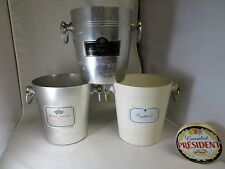 3 rare french champagne bucket France modernist mid century bauhaus design