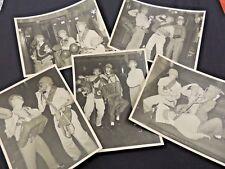 VTG 1950's Military Photos Lot 5 Pc Army Sad Sac Gas Mask Helmet Stooges Antics