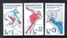 CZECHOSLOVAKIA MNH 1980 SG2503-2505 WINTER OLYMPIC GAMES - LAKE PLACID