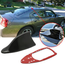 Black Racing Shark Fin Roof Antenna Radio Fmam 1pc For Dodge Charger Challenger