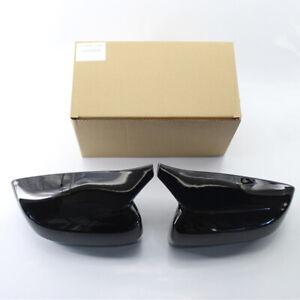 2x Black Car Side Mirror Cover Caps For BMW 3 5 7 Series G30 G20 G38 G28 G11 G12