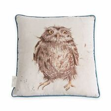 Wrendale Designs Piped Cushion Owl What a Hoot