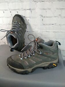 GUC women's MERRELL MOAB MID GORE-TEX XCR gray hiking/trail boots - SIZE 7 1/2