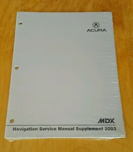 Rare OEM 2003 Acura MDX Navigation Service Manual Supplement