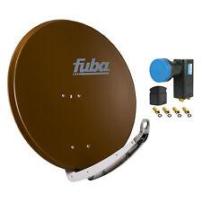 FUBA DAA 850 B + Opticum Quad LNB SAT Spiegel Schüssel braun Antenne 85 cm