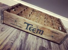 Extremely Rare Vintage 1960's Teem Beverages Wood Soda Pop Crate