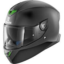 Shark Skwal 2 Blank Solid Matt Black Motorcycle Helmet KMA Full Face Street LED