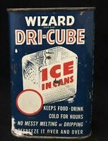 Vintage Wizard Dri Cube Tin Can Freezer Pack Refreeze Over and Over