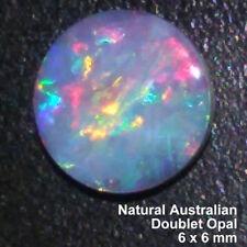 100% Genuine Natural Australian Doublet Opal, Gemstone, 0.49 carat, 6x6mm.