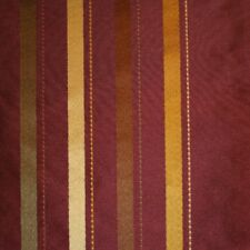 100% Silk Stripe Fabric Curtains, Cushions, Costumes 130cm Wide Red Gold