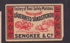 Anciennes  étiquettes Allumettes Allemagne BN22556 Combat de coq