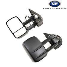 2007-2013 Silverado Sierra Extendable Trailer Tow Camper Mirrors 19202235 OEM GM
