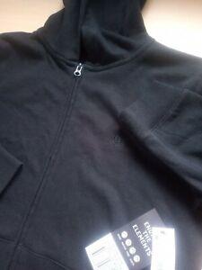 Boys ELEMENT Black Zip Front Long Sleeve Hoodie Age 14