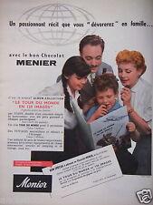 PUBLICITÉ 1956 CHOCOLAT MENIER TOUR DU MONDE EN 120 IMAGES - HUET - ADVERTISING