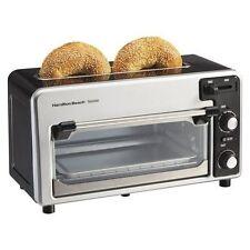 Hamilton Beach Toastation® Compact Toaster & Oven Extra Wide Slot Mint in box