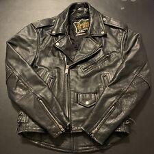 Vintage Leather Biker Jacket 40 M/L 80s 90s Biker Fashion Punk Rare Moto Fashion