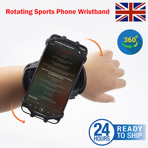 Removable 360 Rotating Sports Phone Wristband Driving Takeaway Navigation Arm