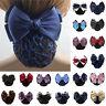 Bow Barrette Lady Hair Clip Cover Bowknot Bun Snood Women Hair Accessories 2016