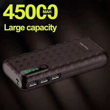 45000mAh Power Bank Charger LED Digital Display Flashlight External Battery Best