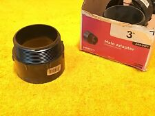 """***NEW***  NIBCO 3""""  ABS DWV BLACK CL5804 MALE ADAPTER"""