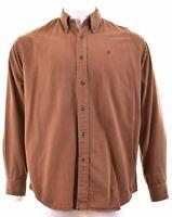 MARLBORO CLASSICS Mens Shirt Large Blue Cotton  LO03
