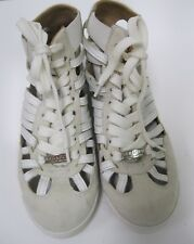 Serafini Advanced Skorpios White Slotted Sneakers Shoes Size 36 $280 EUC
