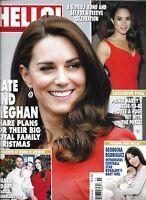 Hello Magazine Kate Middleton Prince Harry Meghan Markle Georgina Rodriguez 2017