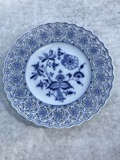 Beautiful Meissen Porcelain Blue and White Open Work Plate