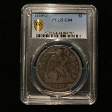 1850 O Seated Liberty One Dollar PCGS G04 Choice Good Rare Key Date Silver S$1