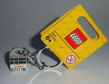 "KEY CHAIN Lego BTTF ""CALIFORNIA OUTATIME"" License NEW Genuine Legos Handmade"