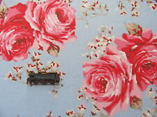 Cath Kidston Classic Rose Blue 100cm / 135cm wide lightweight cotton fabric new