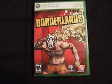 Replacement Case (NO GAME) BORDERLANDS  XBOX 360
