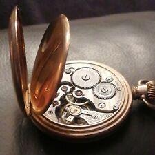 Antique Gold Plated Swiss Made Dennison Star Case Open Face Pocket Watch working