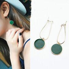 1Pair Simple Green Circle  Fresh Girl Earring Good Quality Pendant Earrings