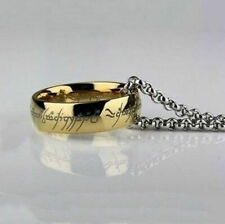 HERR DER RINGE / LORD OF THE RINGS, GOLD RING-GRAVIERT & SILBER HALSKETTE, EDEL!