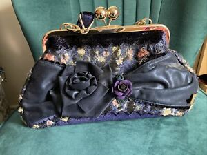 irregular choice Rare Bag Retro Vntage Stylr Blue Flowers