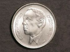 MOROCCO 1965(AH1384) 5 Dirhams Silver Choice BU