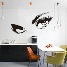 Black Sexy Eyes Wall Art sticker Lady Eyes Lashes Decal Home Decor