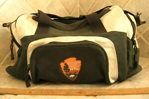 "National Park Service Duffle Bag Tote Suitcase Travel Embroidered Logo 16""x10""x9"