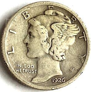 1926 S Silver Mercury Dime # 2091