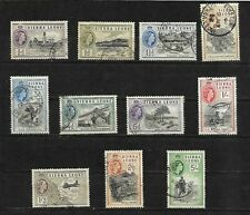Sierra Leone 1956 QEII pictorials, complete to 5/- used (7967)