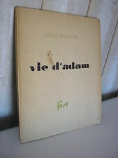 Pierre NOTHOMB : VIE D'ADAM 1928 Edition originale sur Hollande