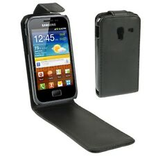 COVER CUSTODIA FLIP CASE per SAMSUNG GALAXY ACE PLUS GT S7500 ECO PELLE FODERO